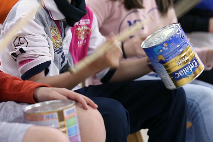 Percusión con reciclado
